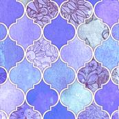 Purple and Lilac Decorative Moroccan Tiles
