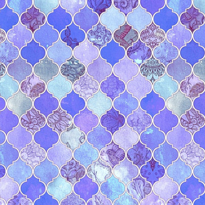 Purple and Lilac Decorative Moroccan Tiles