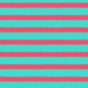 Pink on Mint Stripe