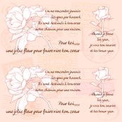 french message -rose-