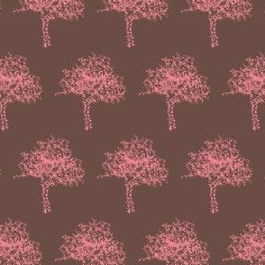Redbud in Blossom on Bark