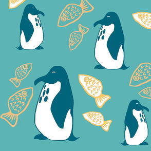 penguins and the fish
