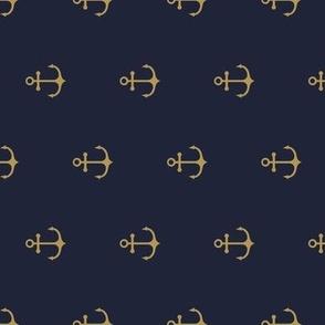 Anchor Gold Navy - vertical