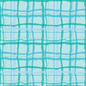 Blue Beach Plaid Bright