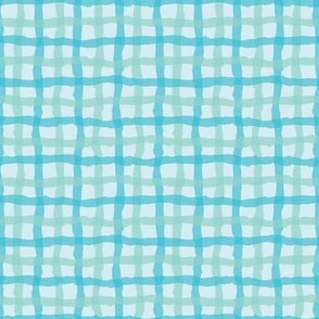 Blue Beach Gingham Bright
