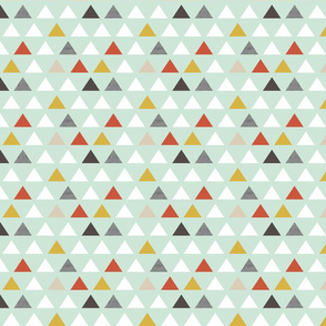 red mint triangles half scale