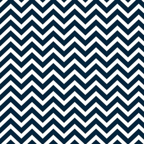 Chevron in Marine Navy and Seacap White Bands