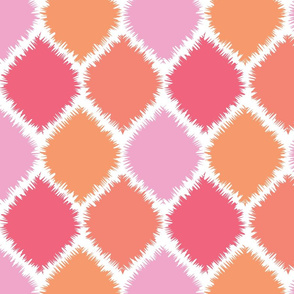 Coral and Pink Ikat