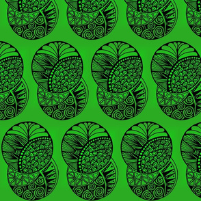 Green Zentangle Circles