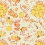 Lemon. Sweets. Desserts. Tea.