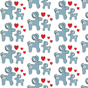 baby boy fabric whit heart
