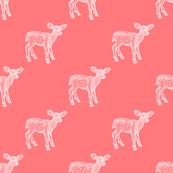 Deer Dear, Watermelon DiagonalHalfDrop