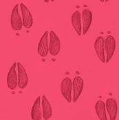 Deer Tracks Hot Pink