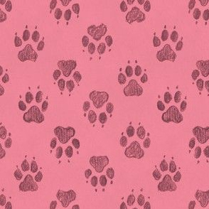 Canine Pawprints Soft Pink