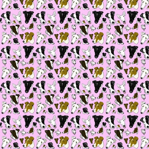 Smooth Fox Terrier Fabrics In Pink TINY
