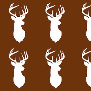 deer head silhouette brown