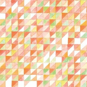 Watercolor Triangle Grid | Orange