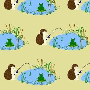 hedgehog fishing