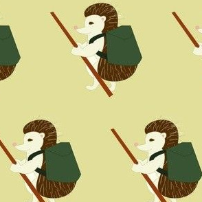 hedgehog hiking