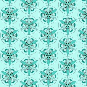 Teal Flower of Life