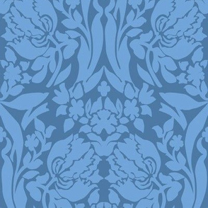 damask frances blue