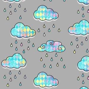 Clouds triangle wash rain