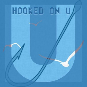 Hooked on U in blue seagull