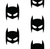 Batman superhero white on black