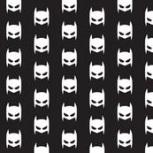 Batman superhero white on black