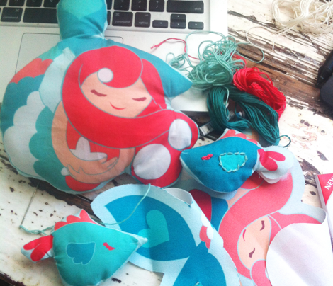 Mermaid Pearl Fuchsia Plushies
