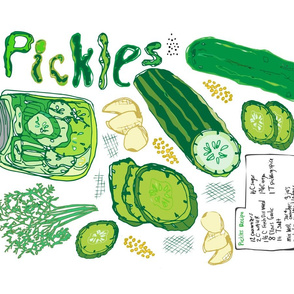 Pickles Pickles Pickles Tea Towel