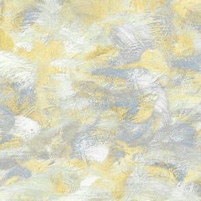 abstract paint swirl - yellow and grey