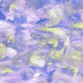 abstract paint swirl - purple and gold