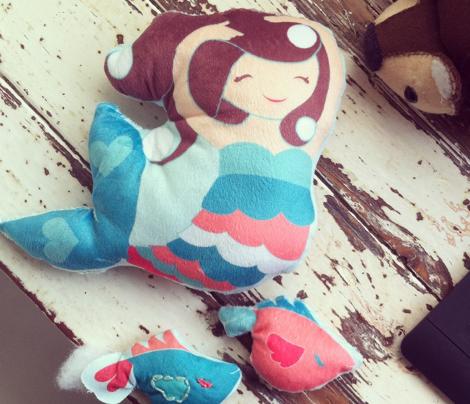 Mermaid Pearl Plum Plushie