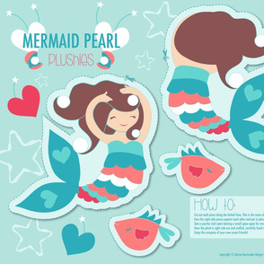 Mermaid Pearl Plum Plushie