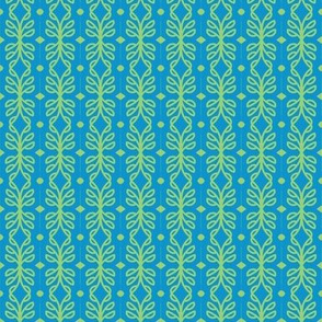 Scandinavian Trellis Aqua Lime