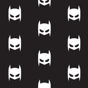 Batman superhero white on black-ch