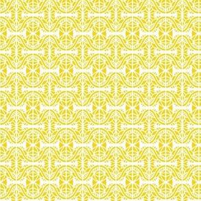 Spider Webs Gold White