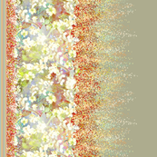 WHITE VIOLETS DOUBLE BORDER PRINT FEAST OF BLOSSOM WHEAT