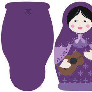 Matryoshka Solo Artist Pillow - Purple