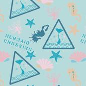 Mermaid Crossing in Aquamarine