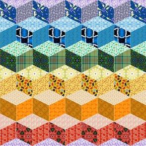 Rainbow Tumbling Blocks