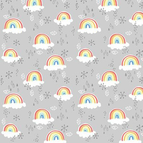 rainbows on grey - small
