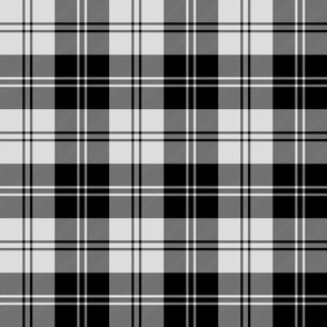 Erskine or Ramsay tartan - black and pale grey