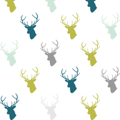 green teal gray mint deer