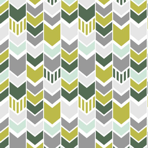 green mint olive gray chevron