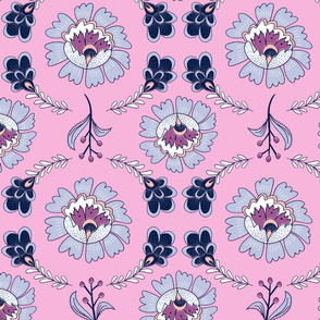 Dutch Floral: Pink & Blue