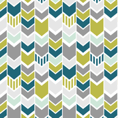 green teal gray mint chevron