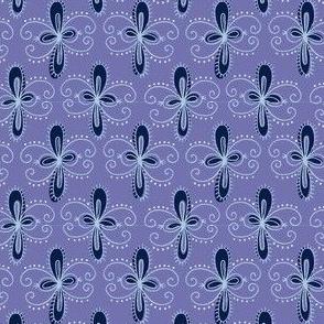 Fluer: Indigo blue
