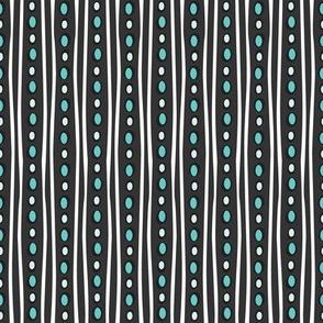 Midnight Stripe (Dark Teal)